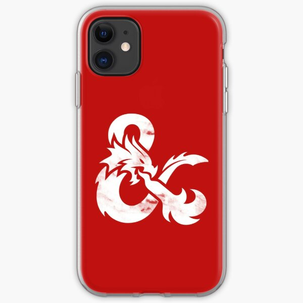 Dungeons and Dragons (White) iPhone Soft Case