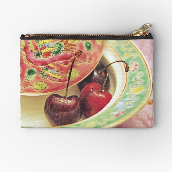 Peranakan pastels and cherries Zipper Pouch