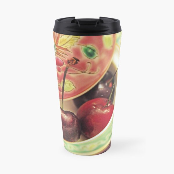 Peranakan pastels and cherries Travel Mug