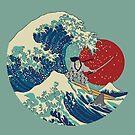 Feel The Wave _samurai_shark_fujisan by mauro mondin