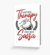 No necesito terapia, solo necesito Salsa Tarjeta de felicitación