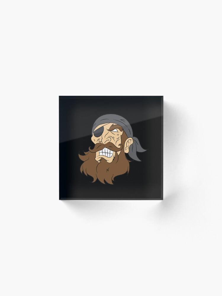 Alternative Ansicht von Pirate pirate head sailor lake gift laugh Acrylblock