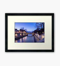 The Seine in the dusk Framed Print