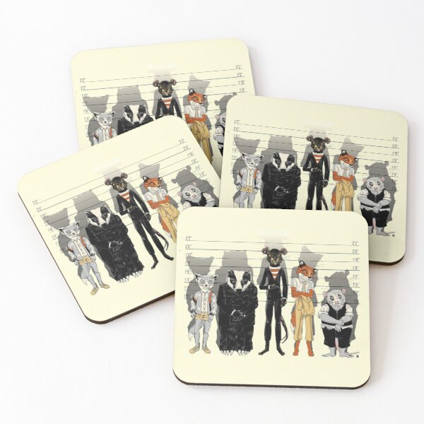 Unusual Suspects Coasters (Set of 4)