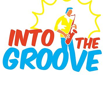 Into The Groove Featuring a Colorful Saxophone Musician by jazzworldquest