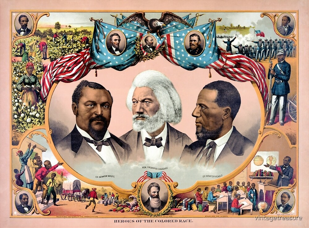 Heroes of the colored race Poster 1881 Restored by vintagetreasure