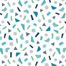 Konfetti-Muster in Aqua Blue von daisy-beatrice