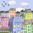 Pastel Village by DesignsByDebQ