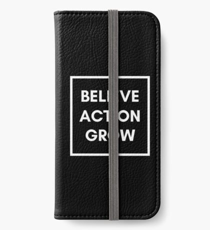 Growth Mindset: Believe, Action, Grow iPhone Wallet