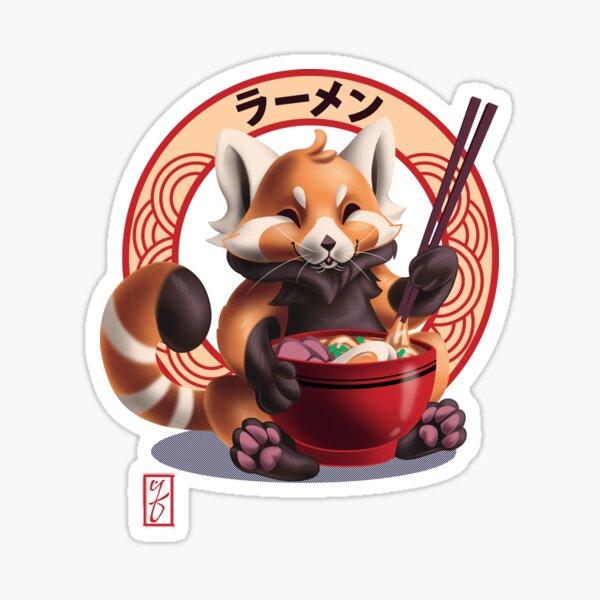 Red Panda Noms Sticker