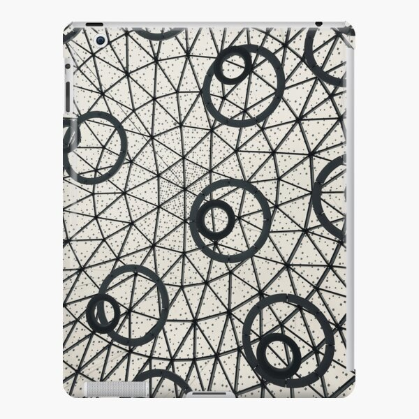 Black and White Abstract Circles Pattern Architecture Photograph  iPad Snap Case