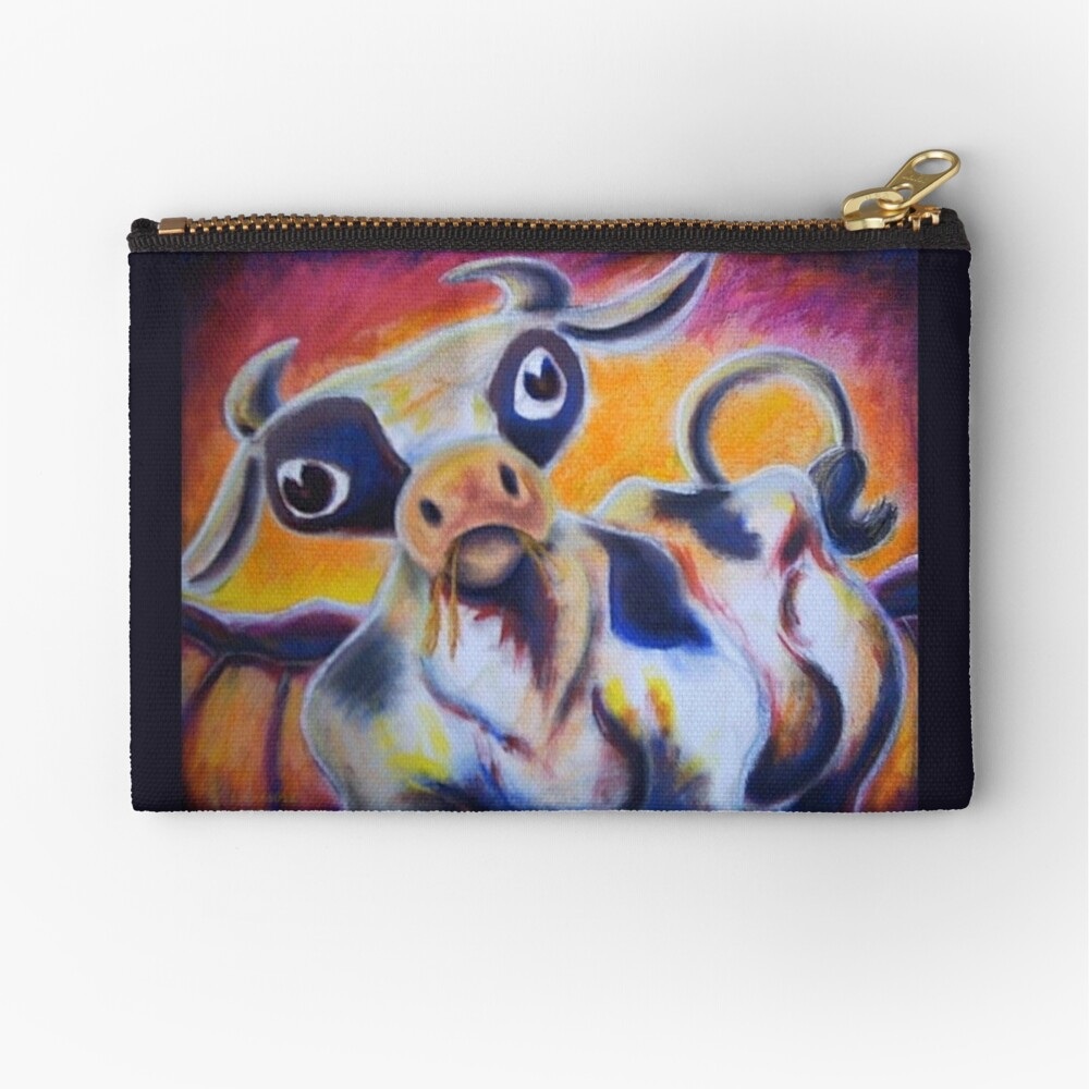 A Cow's Tail Zipper Pouch