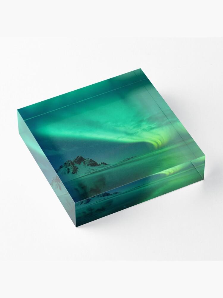 Alternate view of atmosphere, underwater, water, dark, landscape, nature, sea, light - natural phenomenon Acrylic Block