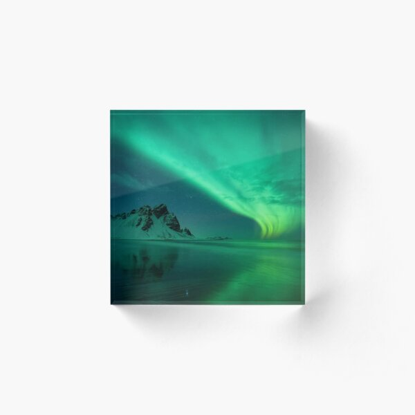 atmosphere, underwater, water, dark, landscape, nature, sea, light - natural phenomenon Acrylic Block