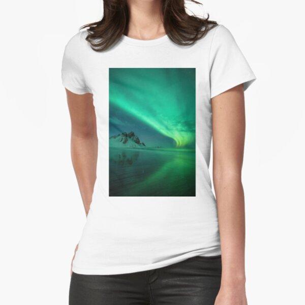 atmosphere, underwater, water, dark, landscape, nature, sea, light - natural phenomenon Fitted T-Shirt