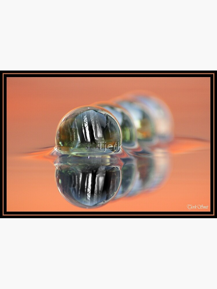 Inside the ball of glass by Tjerk
