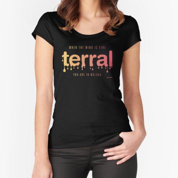 MALAGA TERRAL Camiseta entallada de cuello ancho