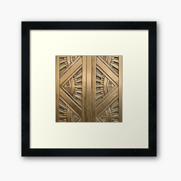 Art deco,vintage,elegant,chic,1920 era,bronze,beautiful,the great gatsby Framed Art Print