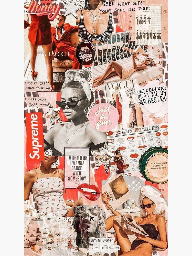 red retro collage  by persianezhad