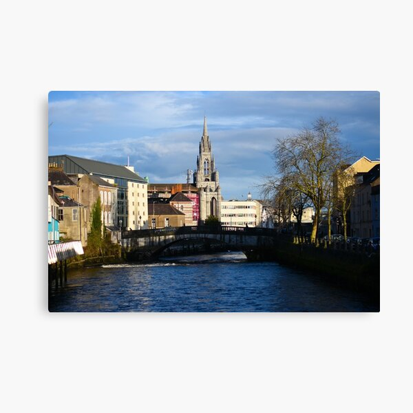 View Along the Lee River, Co. Cork, Ireland Canvas Print