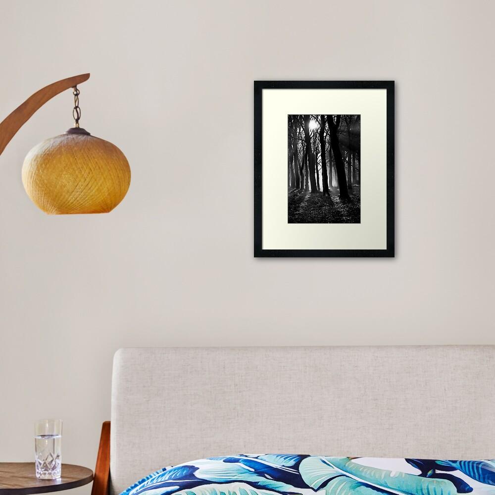 Light into the darkness Framed Art Print