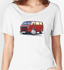 VW T25 / T3 D.Red Women's Relaxed Fit T-Shirt