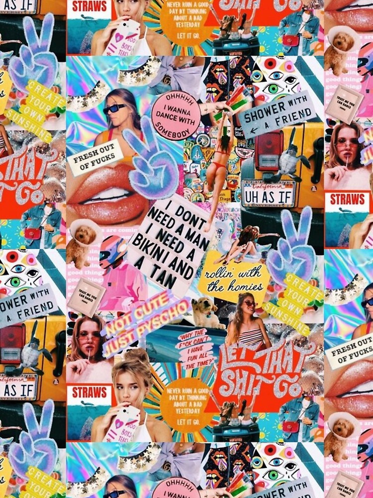 retro summer collage  by persianezhad