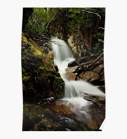 Crater Falls - Cradle Mountain Poster