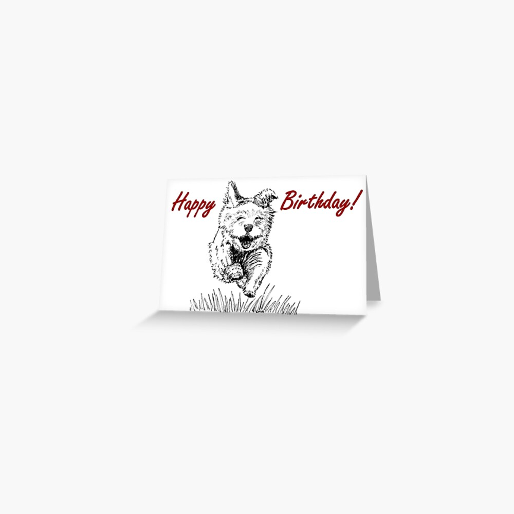 Follow Your Nose Birthday Card Greeting Card