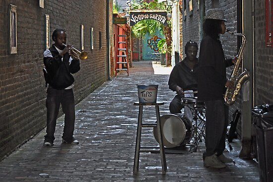 Playing for tips--House of Blues Alley-New Orleans by Milton Ginos