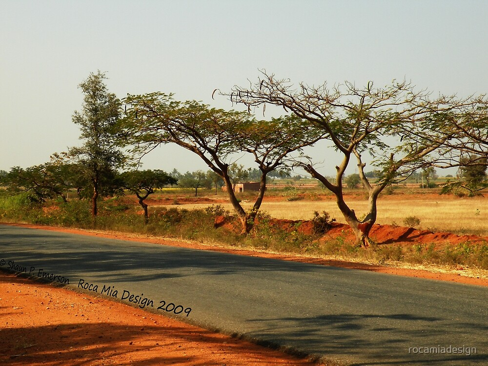 India Highway (with Tamarind Trees) by rocamiadesign