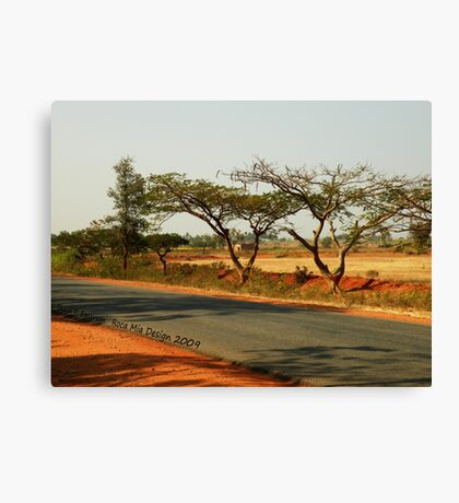 India Highway (with Tamarind Trees) Canvas Print