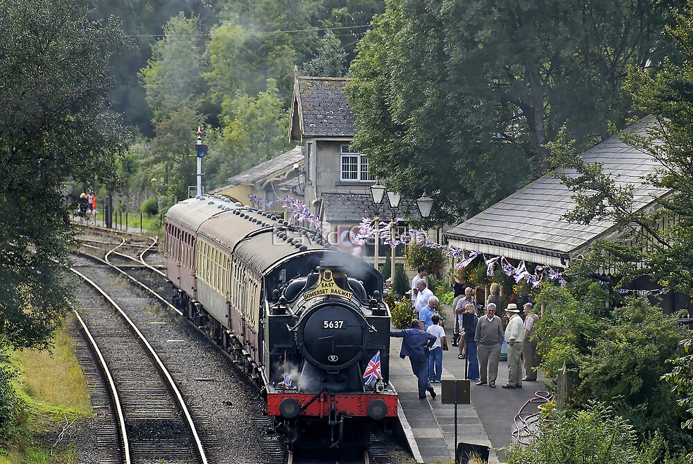 Cranmore station, Somerset, England, UK, by David Carton
