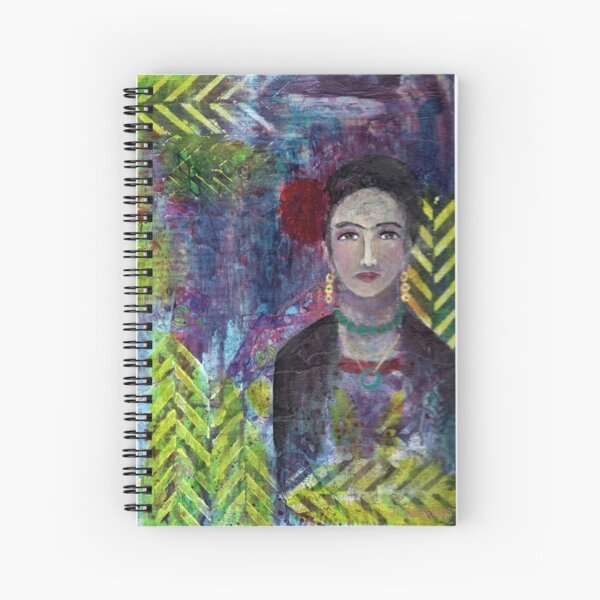 Layers of Frida Spiral Notebook