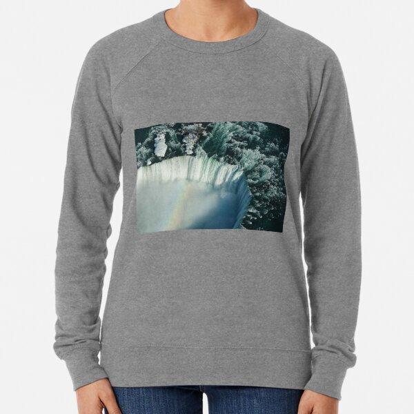 Flying Over Icy Niagara Falls Lightweight Sweatshirt