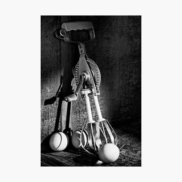 Egg beater in black @ white Photographic Print