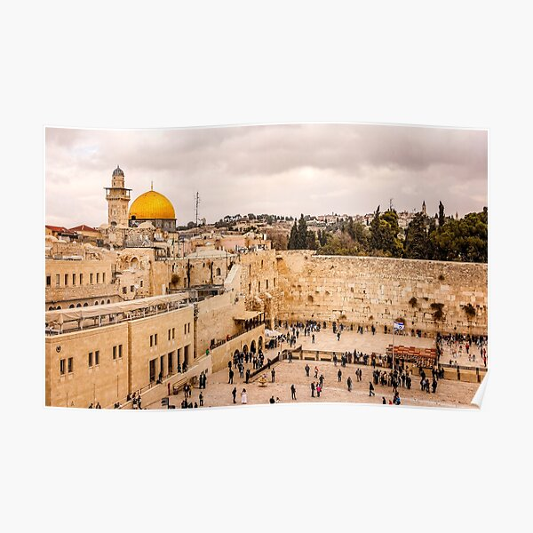 The Iconic Western Wall in Jerusalem Poster