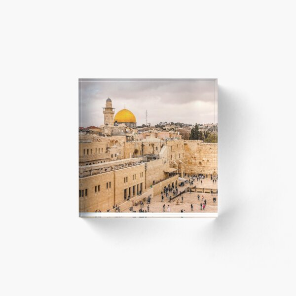 The Iconic Western Wall in Jerusalem Acrylic Block