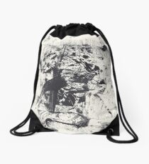 Monkey Dream #1 - Series of 5 Monotypes - Drawstring Bag