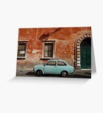 Italian Car Greeting Card