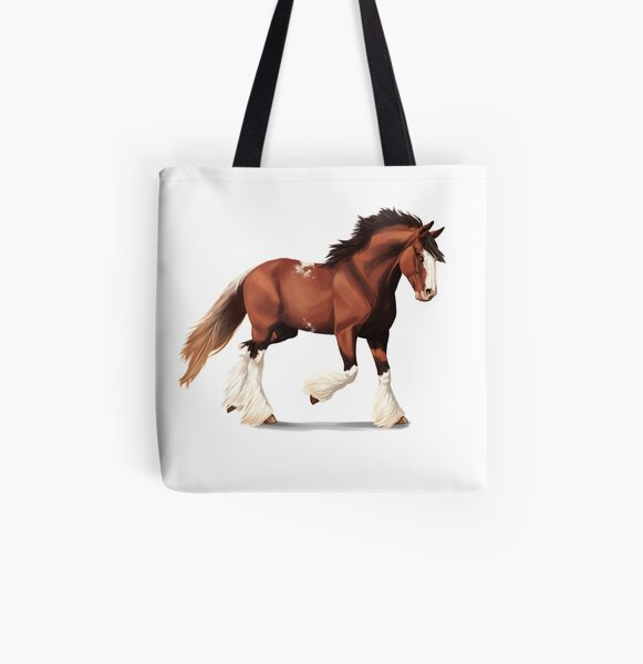 Colorful Horse Large All-Over Print Tote Custom Artwork