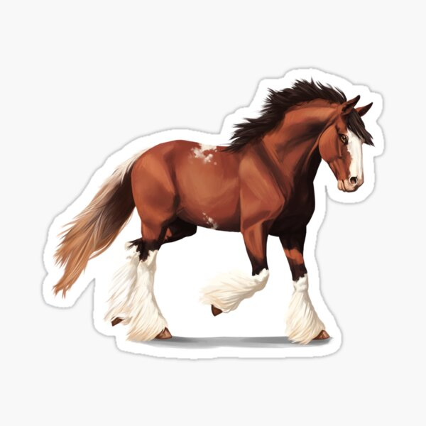 Cheval Clydesdale Sticker