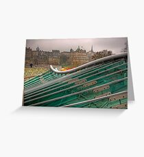 Green, Green Glass Greeting Card