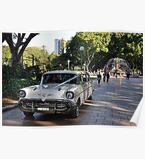 1957 Chevrolet Limousine, Hyde Park, Sydney, Australia 2012 Poster