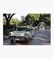 1957 Chevrolet Limousine, Hyde Park, Sydney, Australia 2012 Photographic Print