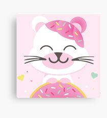 Donut Bear Canvas Print