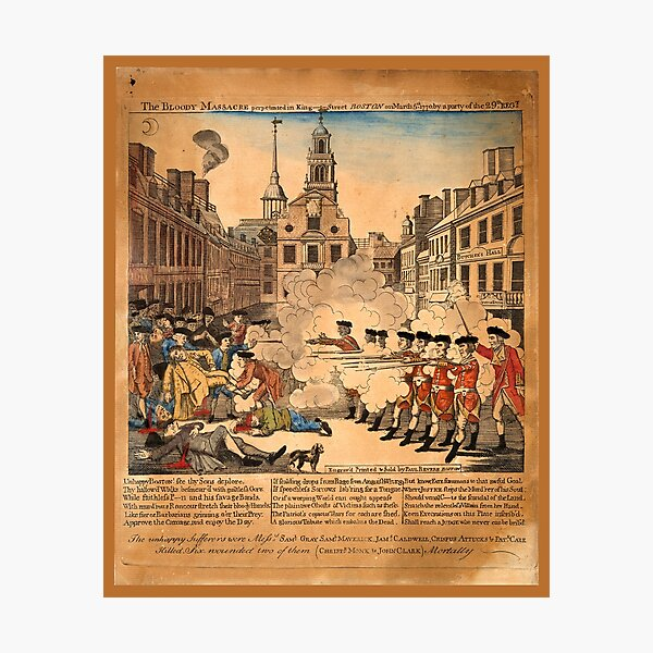 The bloody massacre perpetrated in King Street Boston on March 5th 1770 Photographic Print