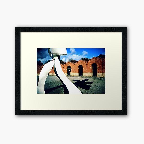 Fernand Leger in the yard Framed Art Print