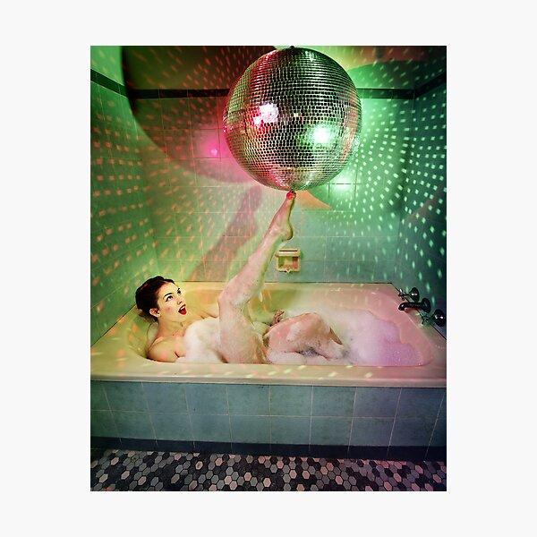 Disco Bubbles Photographic Print