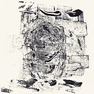 Monkey Dream #3 - Series of 5 Monotypes - by Pascale Baud